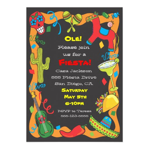 Ole! Mexican Fiesta Party Invitation