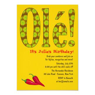 Ole! Mexican Theme Invitation
