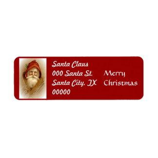 Ole Saint Nick Vintage Return Address Labels