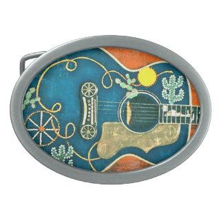 Ole Western Guitar Belt Buckle
