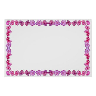 Oleander Border with Blank Field for custom text Poster