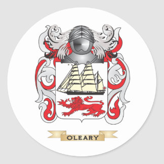 O'Leary Coat of Arms (Family Crest) Round Sticker