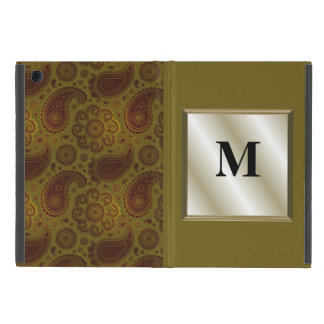 Olive and Burgundy Paisley Cover For iPad Mini