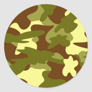 Olive and Cream Camo Stickers / Seals by Heard_