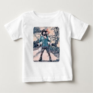 Olive and Dingo on the frozen stairs Baby T-Shirt