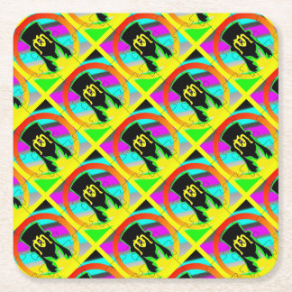 Olive and Dingo party supplies Square Paper Coaster