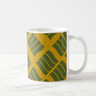 Olive and Mustard Wave Mug
