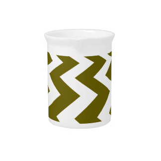 Olive and White Fast Lanes Beverage Pitcher