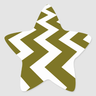 Olive and White Fast Lanes Star Sticker