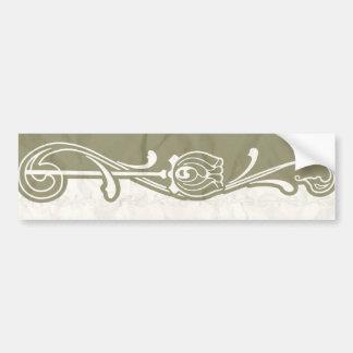 Olive art deco bumper sticker