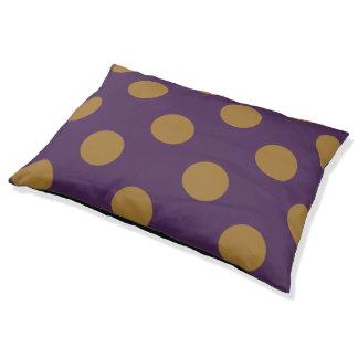 Olive Big Dots on Purple Indoor Dog Bed