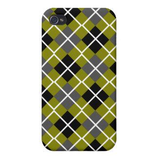 Olive, Black, Grey & White Argyle iPhone 4 Case