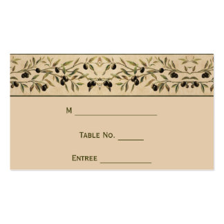 Olive Branch: A Tuscan Touch Place Card Pack Of Standard Business Cards