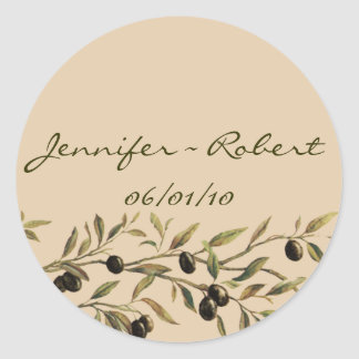 Olive Branch: A Tuscan Touch Round Sticker