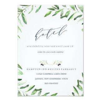 Olive Branch Boho Garden Hotel Card 11 Cm X 16 Cm Invitation Card