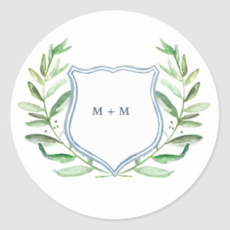 Olive Branch Boho Garden Monogram Stickers