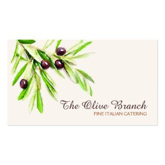 Olive Branch Italian or Greek Catering Chef 2 Pack Of Standard Business Cards