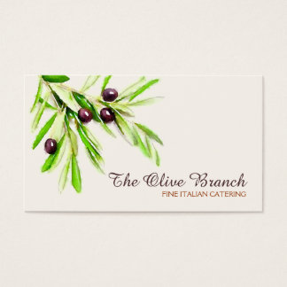 Olive Branch Italian or Greek Catering Chef 2 Business Card