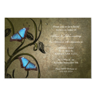 Olive Butterfly Pair Bridal Shower Invitation