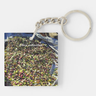 Olive collection Double-Sided square acrylic key ring