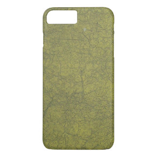 Olive Colored Painted Street Cracked Concrete iPhone 7 Plus Case
