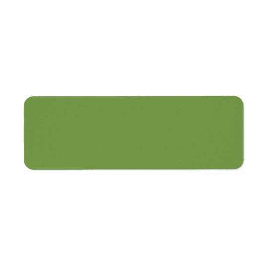 Olive Colour Return Address Label