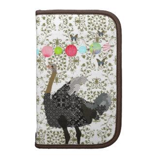 Olive Damask Ostrich Planner