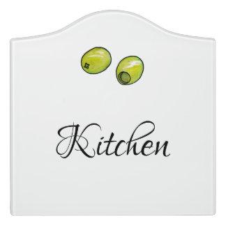 Olive Door Sign