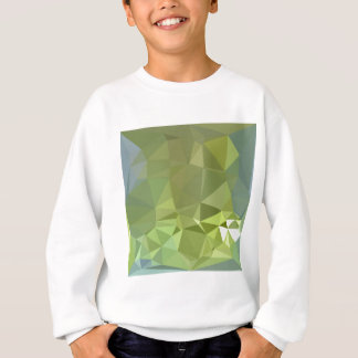 Olive Drab Abstract Low Polygon Background Sweatshirt