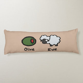 Olive Ewe (I Love You) Body Cushion