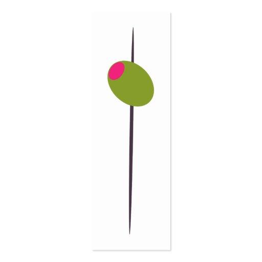 Olive for Martini Bridal Shower Business Cards
