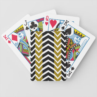 Olive Green and Black Whale Chevron Bicycle Playing Cards