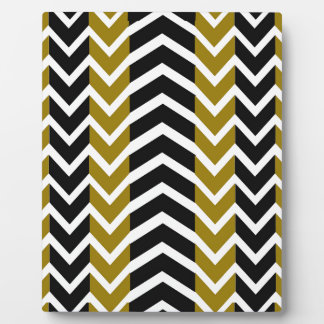 Olive Green and Black Whale Chevron Plaque