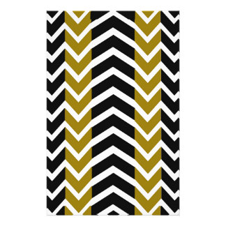 Olive Green and Black Whale Chevron Stationery