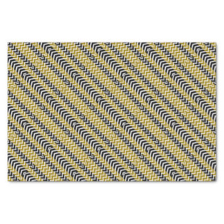 Olive Green and Black Whale Chevron Tissue Paper