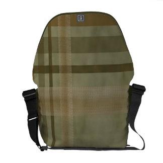 Olive Green and Brown Stripes Rickshaw Messenger B Messenger Bags