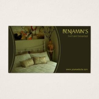 Olive Green B&B Bed and Breakfast Business Cards