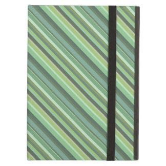 Olive green diagonal stripes iPad air cover