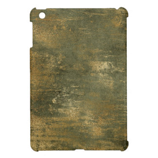 Olive Green Distressed Gold Texture Laptop Case Case For The iPad Mini