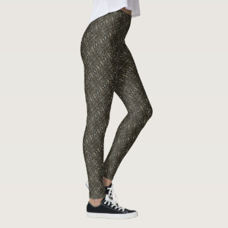 Olive green Grey Criss Cross Leggings