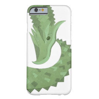 Olive green heart dragon on white barely there iPhone 6 case
