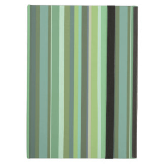 Olive green horizontal stripes case for iPad air