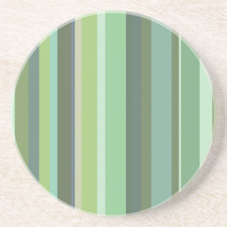 Olive green horizontal stripes coaster