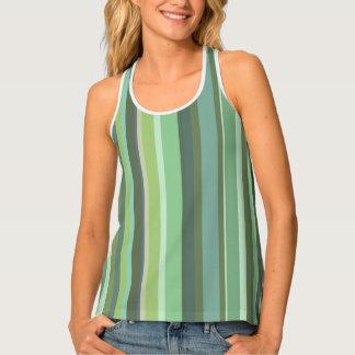 Olive green horizontal stripes singlet