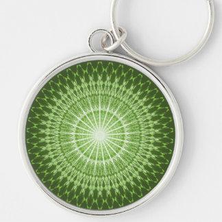 Olive Green Mandala Key Ring