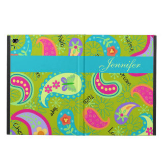 Olive Green Modern & Trendy Paisley Personalized Powis iPad Air 2 Case