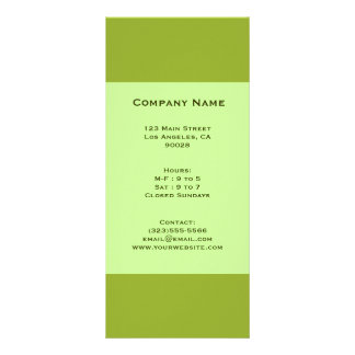 olive green personalized rack card