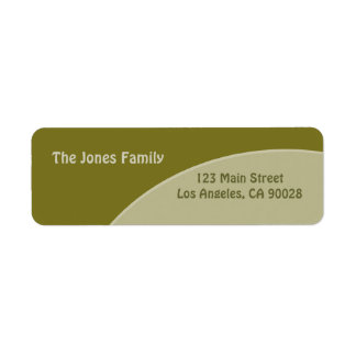 Olive green red circles return address label