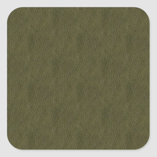 Olive Green Retro Grunge Leather Texture Sticker