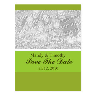 Olive Green Save the Date Postcard